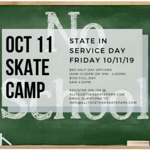 State In-Service Skate Camp Sign-Up Poster